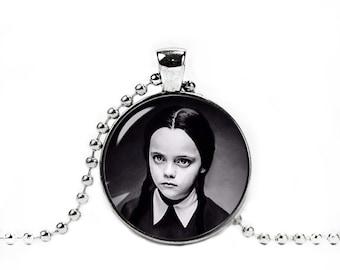 Wednesday Addams Necklace Wednesday Addams Pendant Fandom Jewelry Geeky Fangirl Fanboy