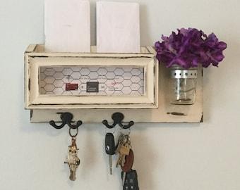 Mail organize/key holder