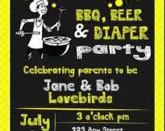 "5""x7"" Baby Party Invitation"