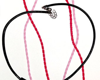 Neckless, Leather with Lobster Clasp fitting