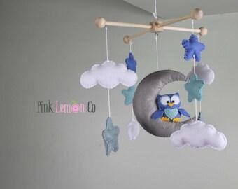 baby mobile - baby mobile owl - owl baby mobile - owl nursery decor - owl crib mobile - baby mobiles hanging - owl nursery mobile