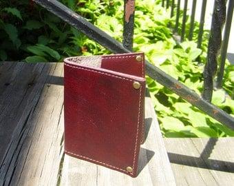 Daye Mini Wallet in Red Italian Leather
