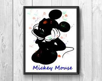 Mickey Mouse, Mickey Mouse posters, mouse print Mikey, Mikey Mouse cartoon, wall poster