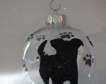 Pet Silhouette Christmas Ornament
