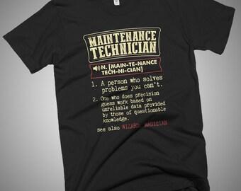 Maintenance Technician Definition Dictionary T-Shirt