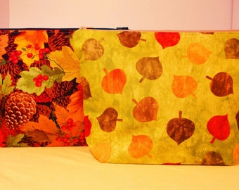 Fall novely prints project bags