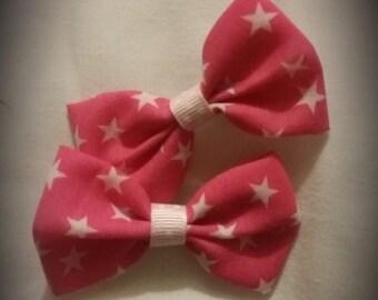 Stunning Handmade Pink Stars Bow