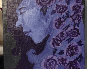 Maiden of Lavender Roses (5x7'')