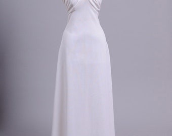 1970 Halter Vintage Wedding Gown