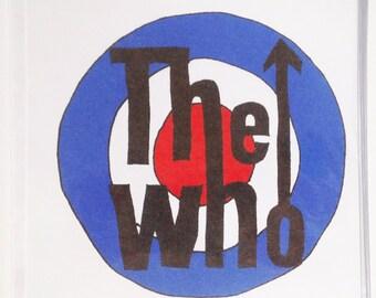 The Who Handmade Card