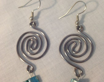 Hand Bent Spiral Earrings