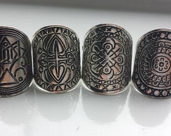 4 boho fashion rings