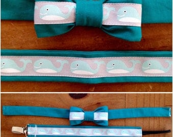 Bow Tie & Pacifier Clip Combo