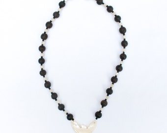 Necklace with Old Ebony and Mother of Pearl