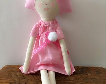 Fabric doll/ Rag Doll   Handmade Doll   Cloth Doll   Cute Doll   Girl Doll