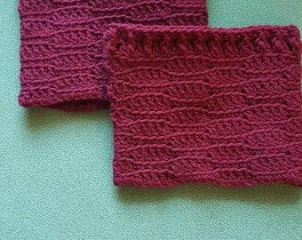 Lacy Crochet Boot Cuffs
