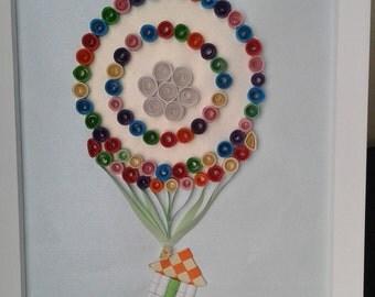 Hand quilled balloon
