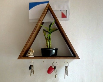 Key holder, key hook and mail holder, key hook, key holder for wall, Schlüsselhalter, ready to ship