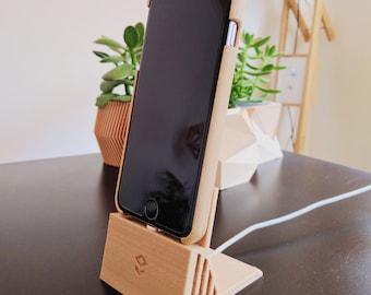 Wooden Stand / Dock &  Passive Amplifier - iPhone 5/5s/6/6s/6Plus