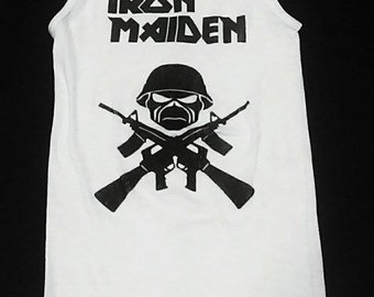 Iron Maiden tank top, Iron Maiden, Iron Maiden shirt, Deconstructed Women's Iron Maiden shirt, heavy metal clothing, Size S, M, L