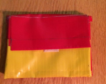 Red and Yellow Accordion Wallet