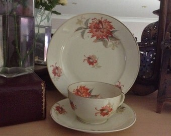 "Vintage Bavarian ""Erbendorf"" decorative China trio 1940-1954"
