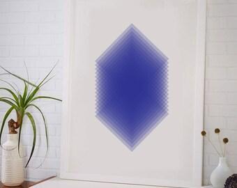 Slices Modern Art Print, Living Room Fine Art Print, Vertical Modern Art
