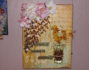 Home Decor Wall Canvas, dream it, believe it, achieve it