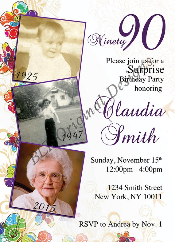 Printed Customized Birthday Party Invitation