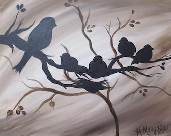 Bird Family Canvas