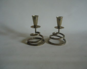 Mid Century Modern Brass Candle Stick Holder