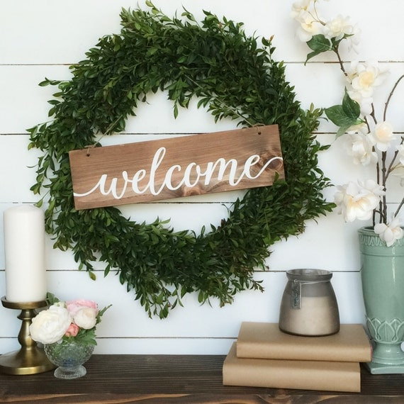 Welcome Sign Rustic Wood Sign Farmhouse Decor