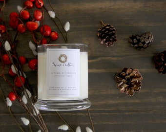 Autumn Afternoon || Wood Wick Apothecary Candle