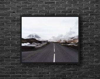 Highway Photo - Road Photo - Road Trip Photo - Road Photography - Mountain Landscape Photo - Road Wall Art - Men Room Decor - Photography
