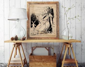 Alice in Wonderland 8x10 Wall Art Vintage Instant Download
