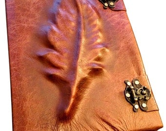 Feather Leather Sketchbook