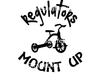 Regulators Mount Up SVG and DXF Tricycle SVG