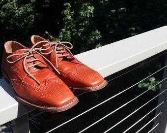 Desert Red Brentano Tie Shoes