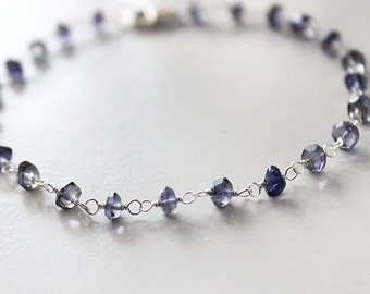Delicate Iolite Bracelet