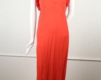 1930s Red Halter Dress