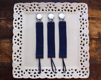 Strapping Navy-Pacifier, Pacifier Clip, Paci Clip, Binky Clip, Binky, Binkie, Soother,Soother Clip