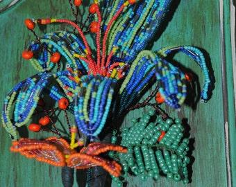 Hand Beaded Flower
