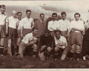 Vintage Photo - Men Photo - Football players - Soccer - Gang of Polish Youth - Sportsmen - Vintage Snapshot - Polish Photo - 1930s photo