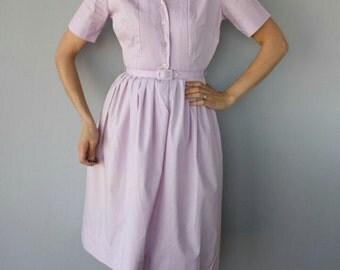 Vintage 1950's Lovely Lavender Day Dress