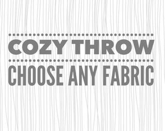 Cozy Throw Blanket. Throw Blanket. Cozy Blanket.