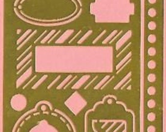 Borders & Tags brass stencil - Studio K #94427 - New in package