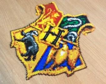 Hogwarts Crest Hama Beads