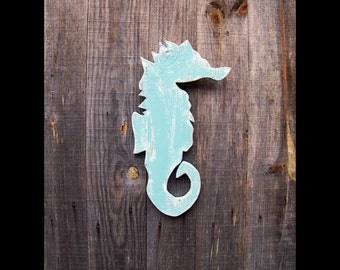 Signs, Coastal Living, Coastal Decor, Beach Cottage, Seahorse, Wood Cutout, Wood Signs, Handpainted, Rustic Decor, Nautical, Ready To Ship!