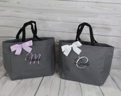 6 Personalized Wedding tote, Bridesmaid Gift Tote Bags Personalized Tote, Bridesmaids Gift, Monogrammed Tote