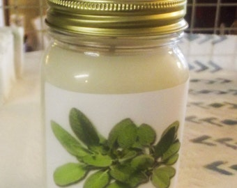 SAGE 16 ounce soy candle